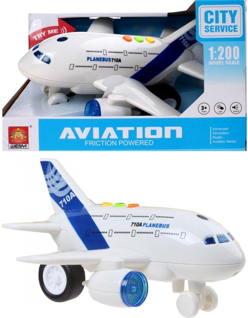 Vliegtuig 18,5cm. 1:200 met licht en geluid
