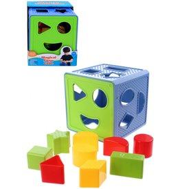 Vormenstoof Magical Form Cube 14cm. met vormpjes 12m+