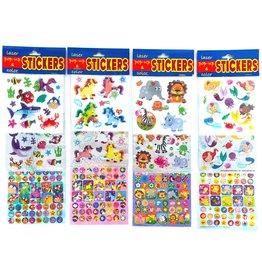 Laser, Pop-Up & Colour Stickers 11,5x33,5cm. 4 assorti