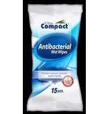 Compact Antibacteriële Wet Wipes 15 stuks