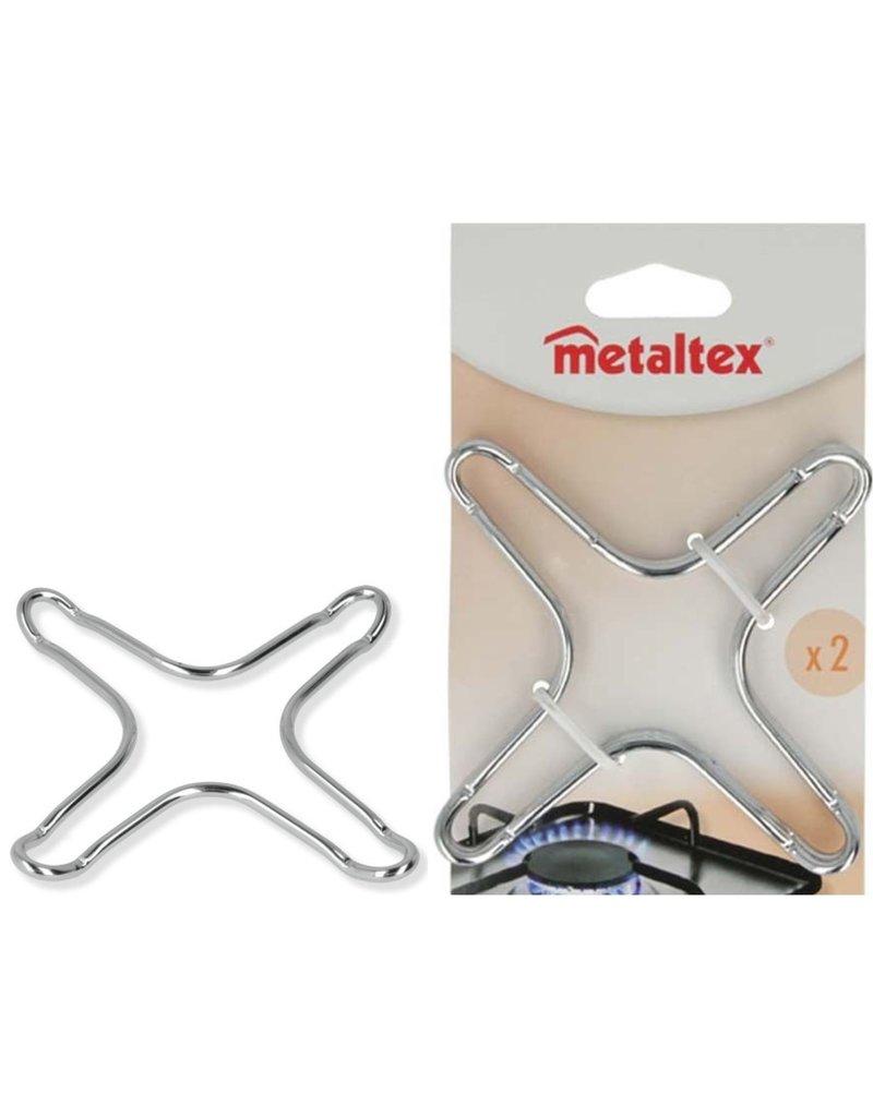 Metaltex Gaspit verkleiner 13x13cm. 2 stuks