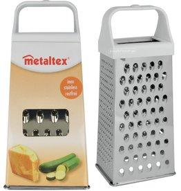 Metaltex Rasp Vierzijdig RVS 20,5x9x6cm.