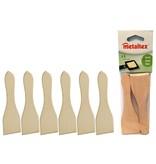 Metaltex Set van 6 Houten Gourmet/Raclette Spatels 14cm