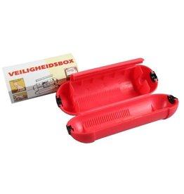 Stekkersafe / Veiligheidsbox Rood