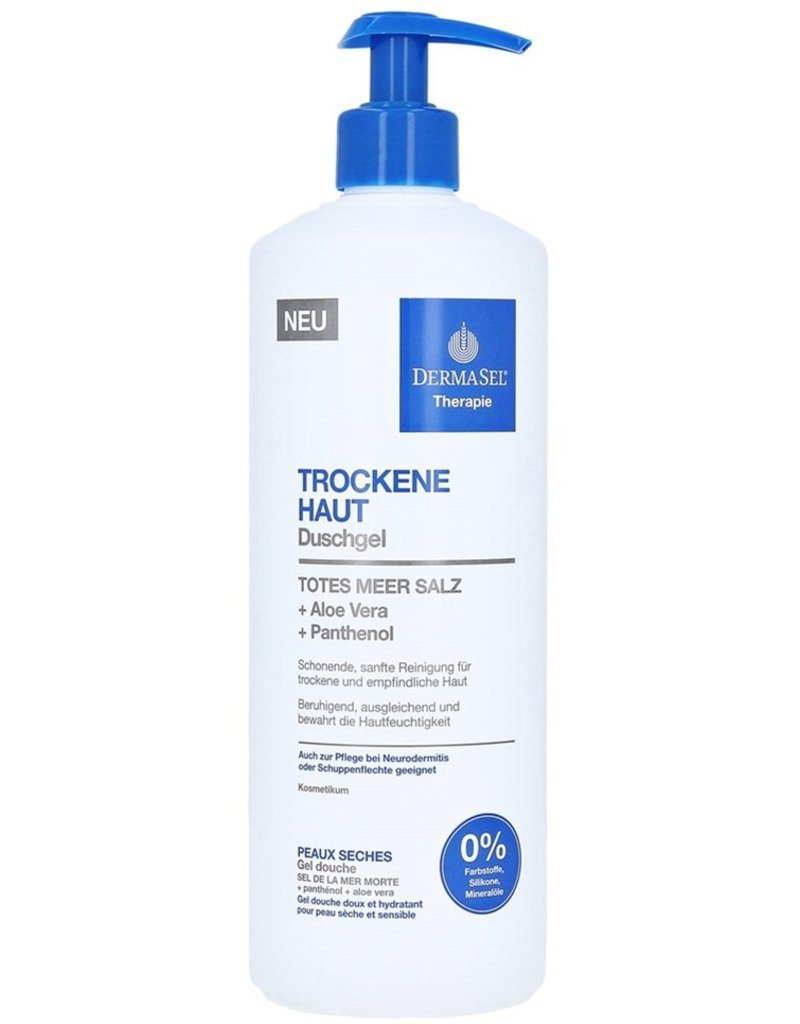 Derma Sel Shower Gel Therapie Dry Skin 750ml Pump