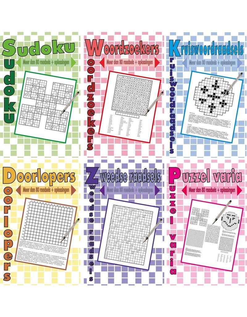 Puzzelboek voor Volwassenen A5 96 pagina's 6 ass.