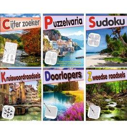 Puzzelblok voor Volwassenen 12x15,5cm. 144 puzzels 6 assorti