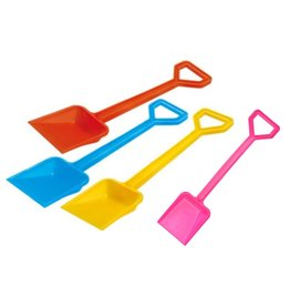 Schep plastic 45cm. 4 assorti kleur