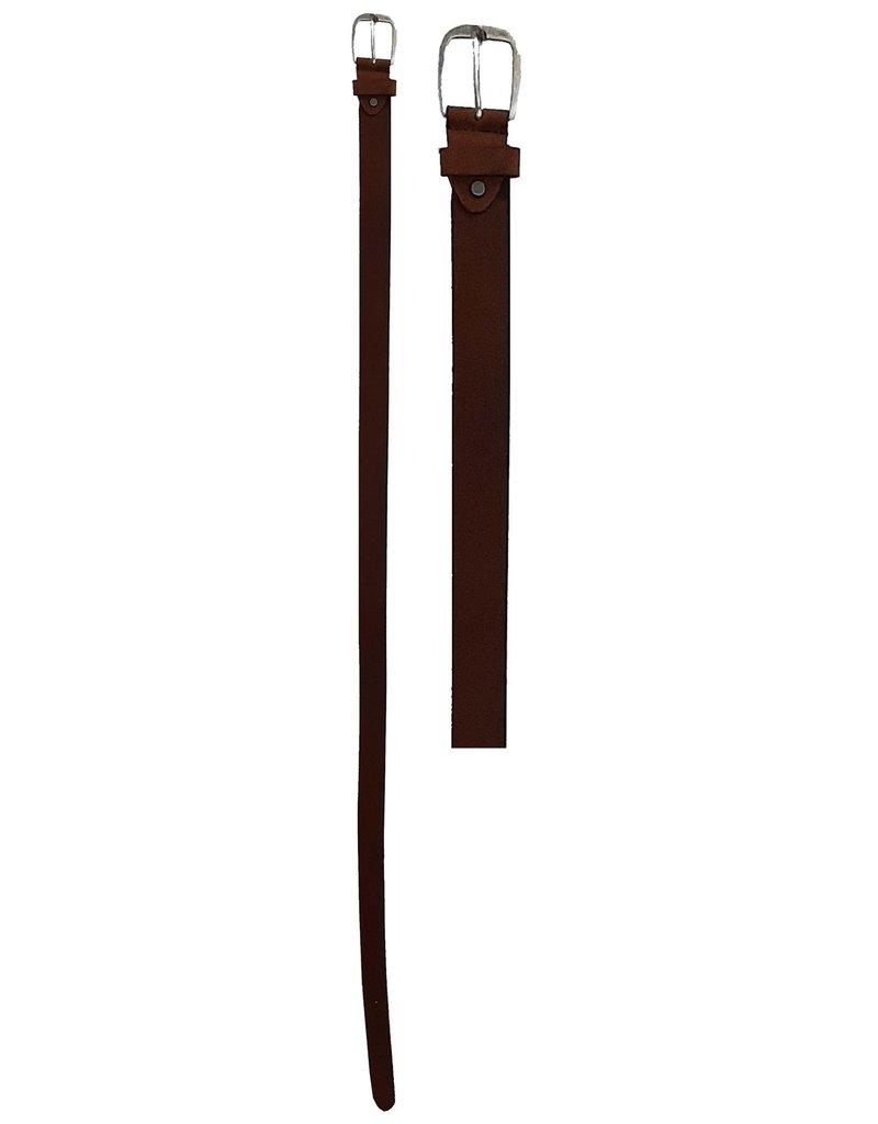 Leren Riem 95-100-105-110-115cm. bruin br. 3,5cm.