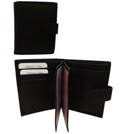 Portemonnee Leer 12x9,5cm. zwart