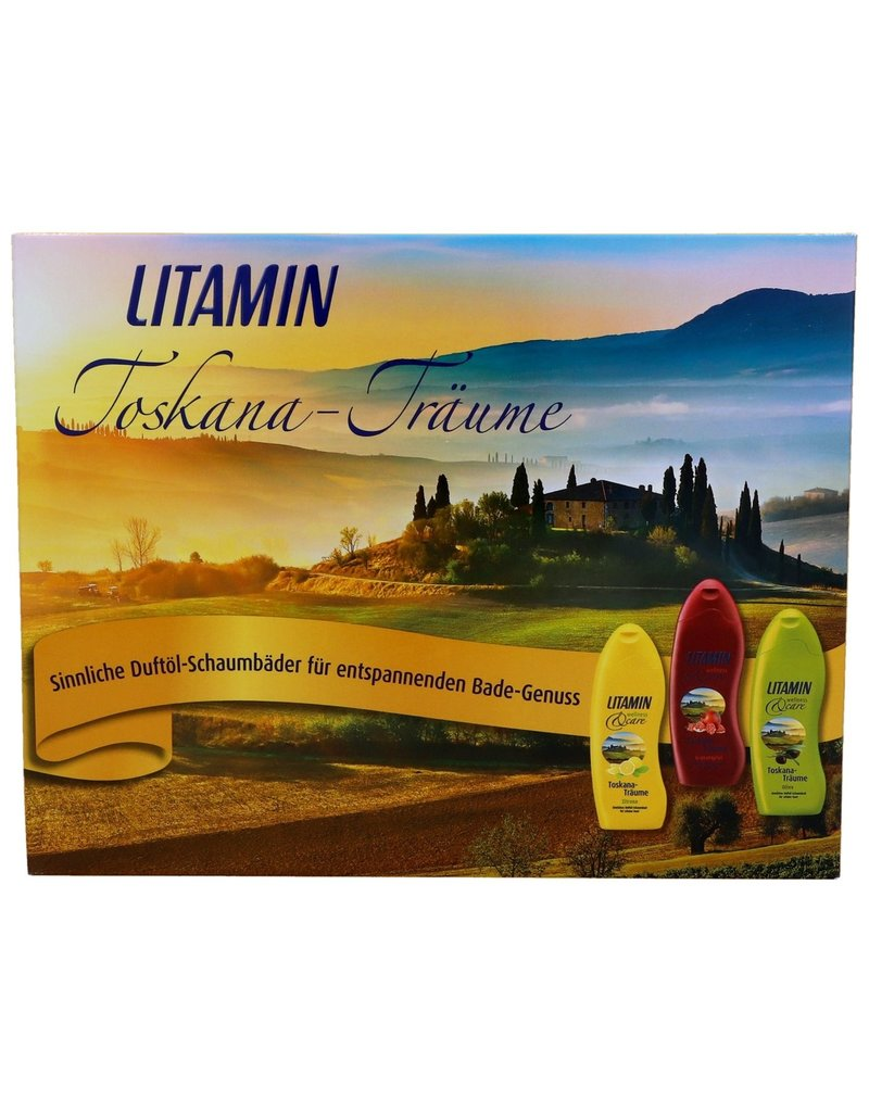 Litamin Giftset Tuscany Dreams 3x Showergel 250ml.