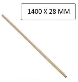 Bezemsteel hout 140x2,8cm. extra sterke kwaliteit