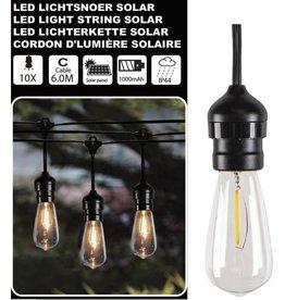 Solar Led Lichtsnoer 10 Led Lampen 6 Meter IP44 1000MAH