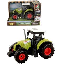 Tractor 14cm. met licht en geluid 3 assorti kleur