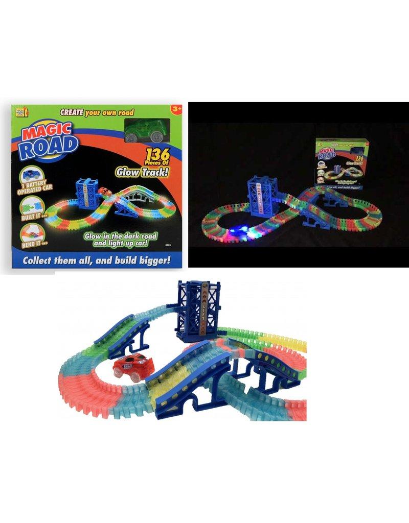 Kids Fun Magic Road Glow Track met lift 136 delig