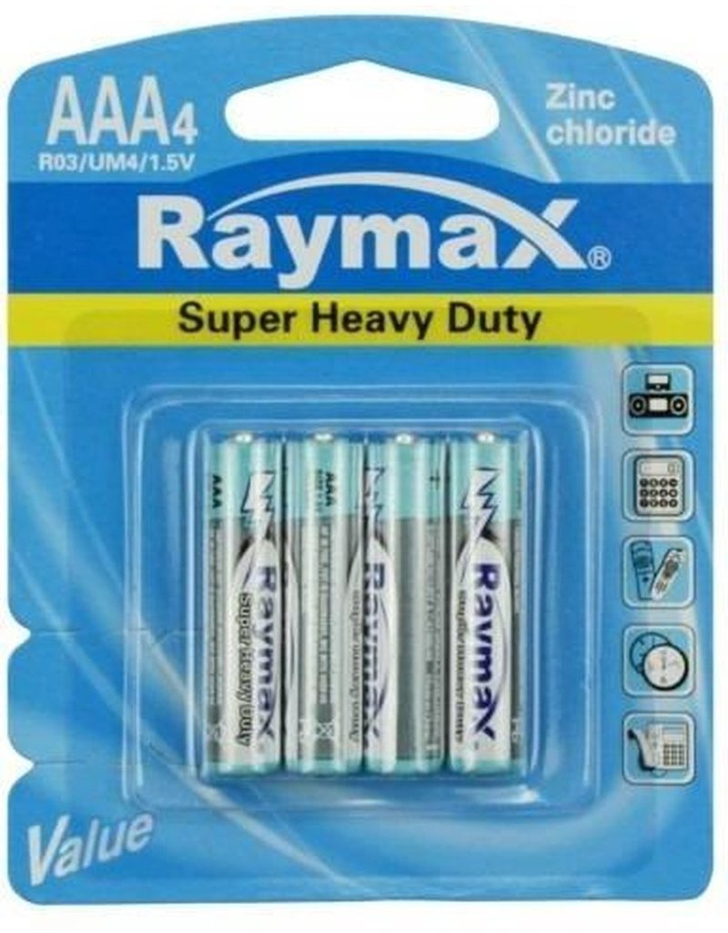 Raymay Batterij 4xAAA Mini Penlite Zink