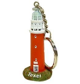 Sleutelhanger Vuurtoren Texel 5cm.