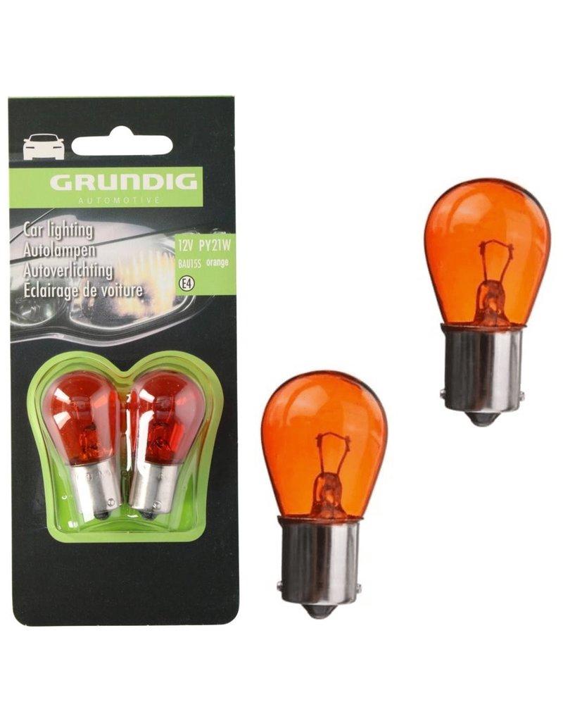 Grundig Autolamp Oranje PY 21W 12V 2 stuks