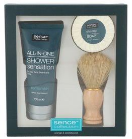 Sence Men Care Giftset; Shaving Soap 50gr+ Brush + FW 100ml