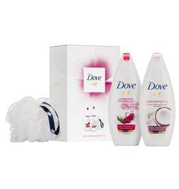 Dove Giftset Relaxing Beauty; 2x Douche 250ml + puff