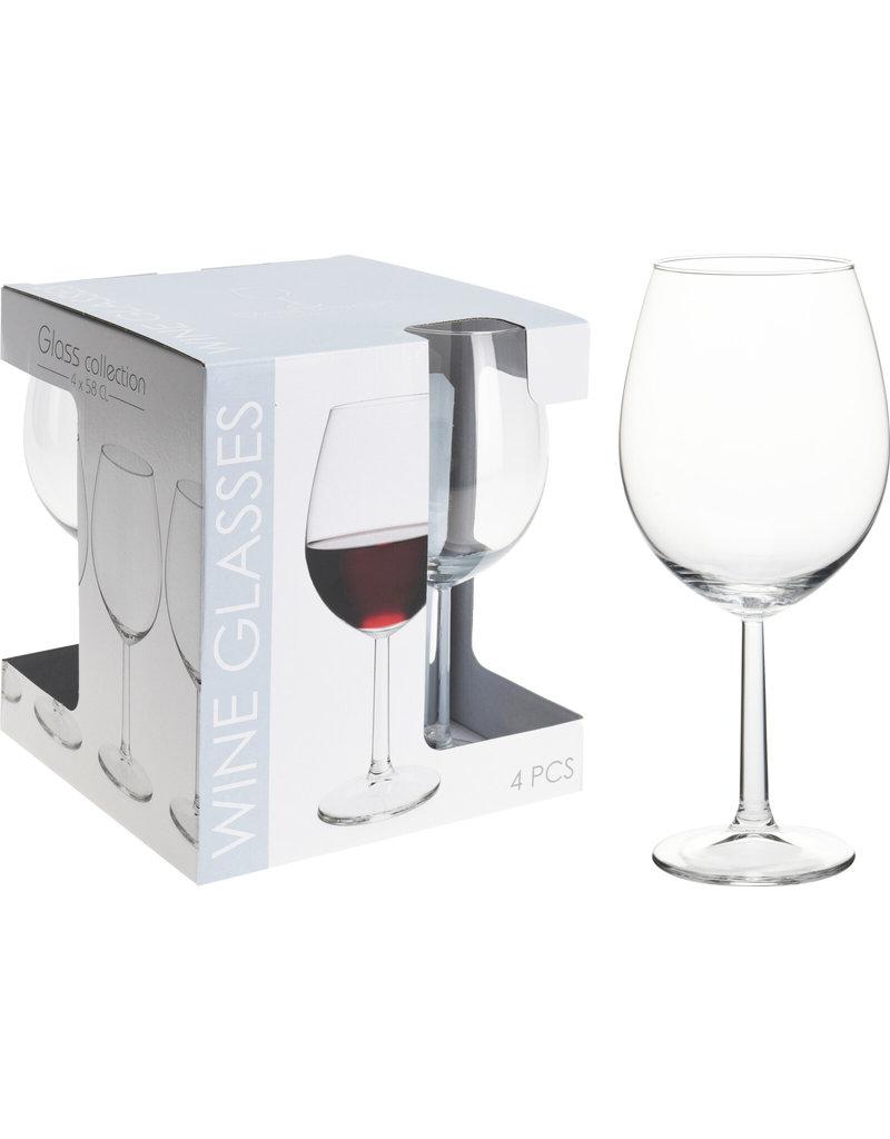 Rode Wijnglas 580ml set a 4 stuks