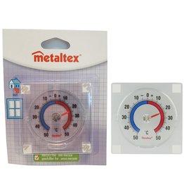 Metaltex Thermometer 4 seizoenen transparant voor op raam