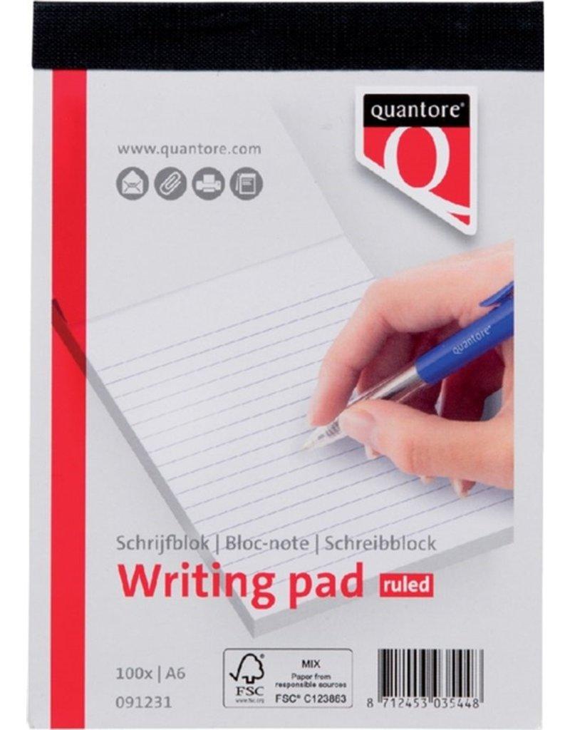 Quantore Schrijfblok A6 gelinieerd 100 vel