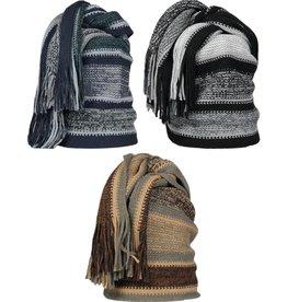 Sjaal Leoben 170cm. 3 assorti kleur