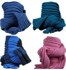 Sjaal Uni 170cm. 4 assorti kleur