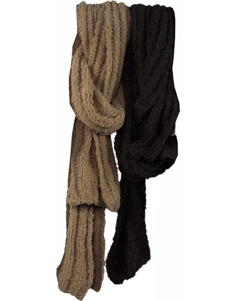 Sjaal Chenille 160cm. 2 assorti kleur