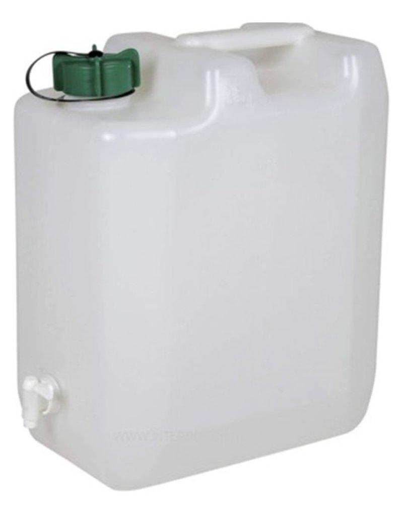 Waterkan 10 liter met kraan 29x15x35cm.