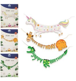 Slinger Happy Birthday 2,5 meter 3 assorti design