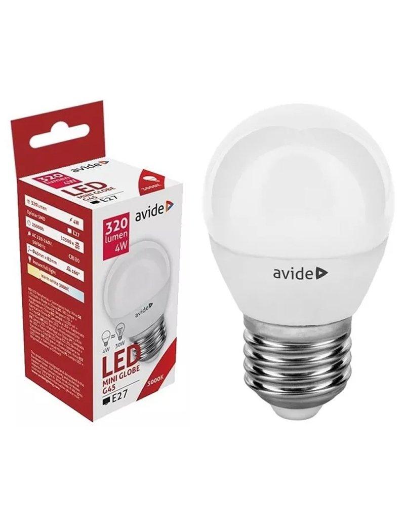 Avide LED Globe Mini G45 4W E27 WW 3000K