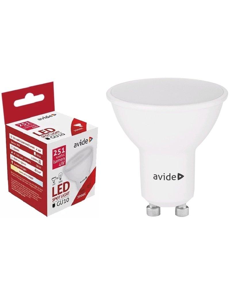 Avide LED Spot Alu+plastic 4W GU10 110° WW 3000K