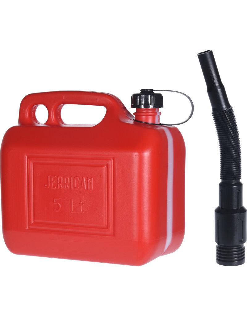 Jerrycan 5 liter met trechter rood