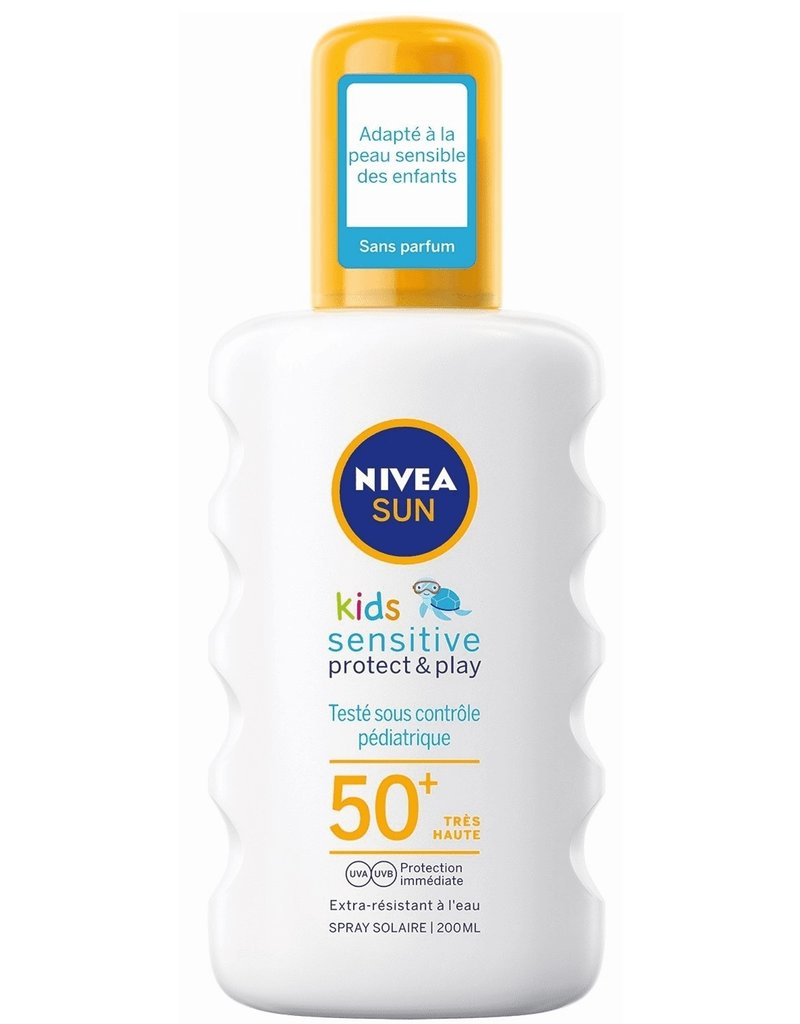 Nivea Sun Spray Sensitve Protect&Play F50+ Kids 200ml.