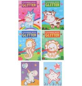 Glitter Kleurboek 24x18cm. 4 assorti design
