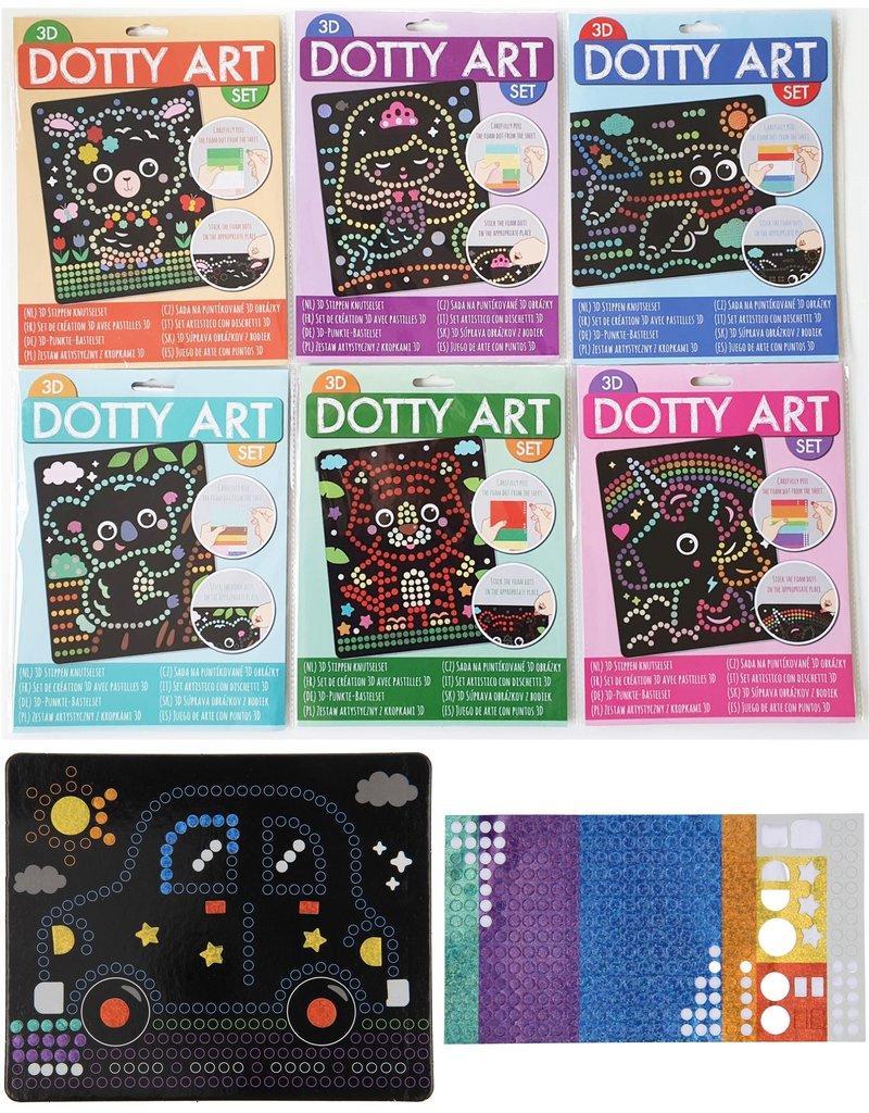 3D Dotty Art Set 2 delig 26x20cm. 6 assorti model