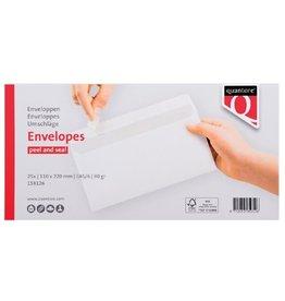 Quantore Envelop EA5/6 110x220mm zelfklevend wit 25stuks