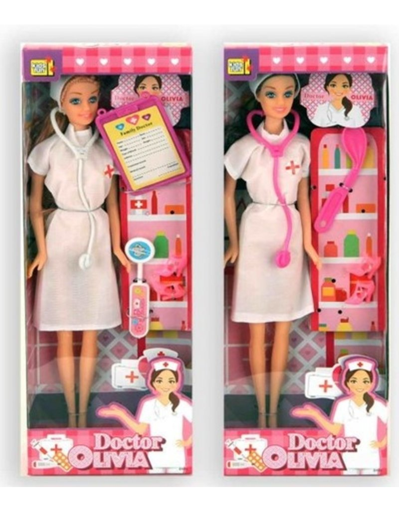 Pop Doctor Olivia 30cm. set 6 delig 3 assorti model