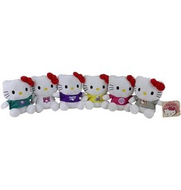 Pluche Hello Kitty 15cm. 6 assorti kleur
