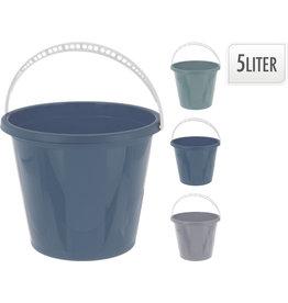 Emmer 5 liter 3 assorti kleur