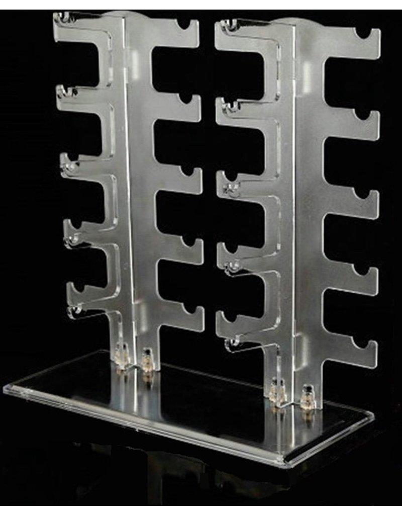Brillenstandaard voor 10 brillen plexiglas