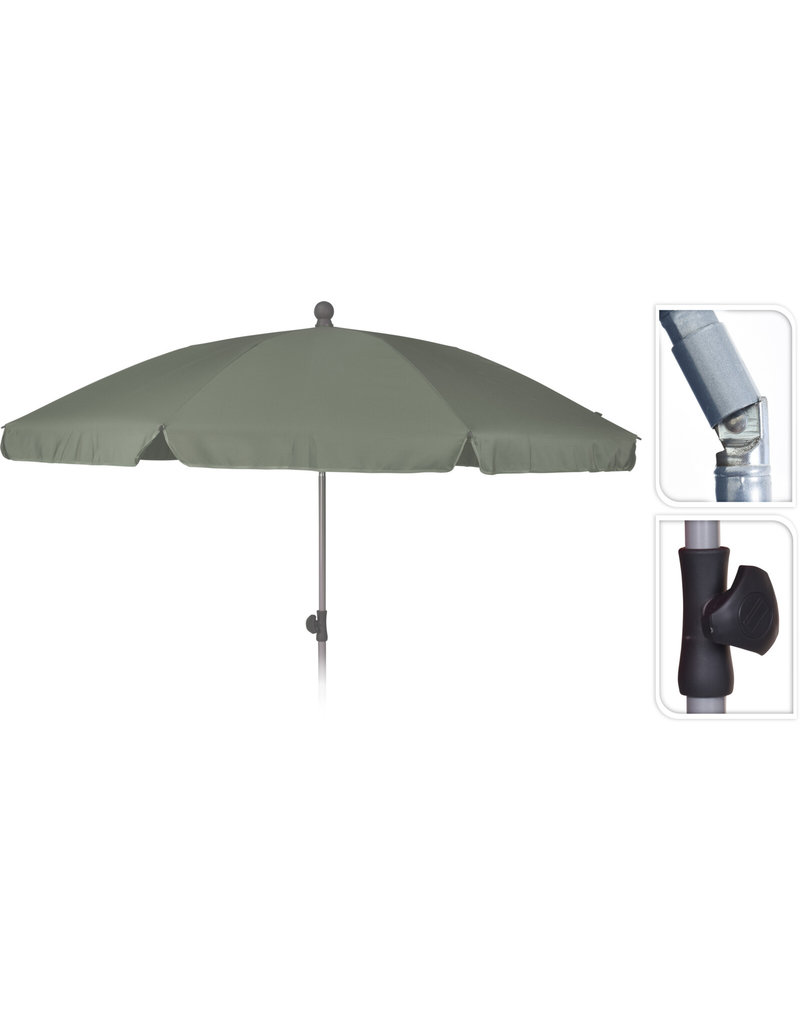 Strand/Tuin Parasol 200cm Taupe