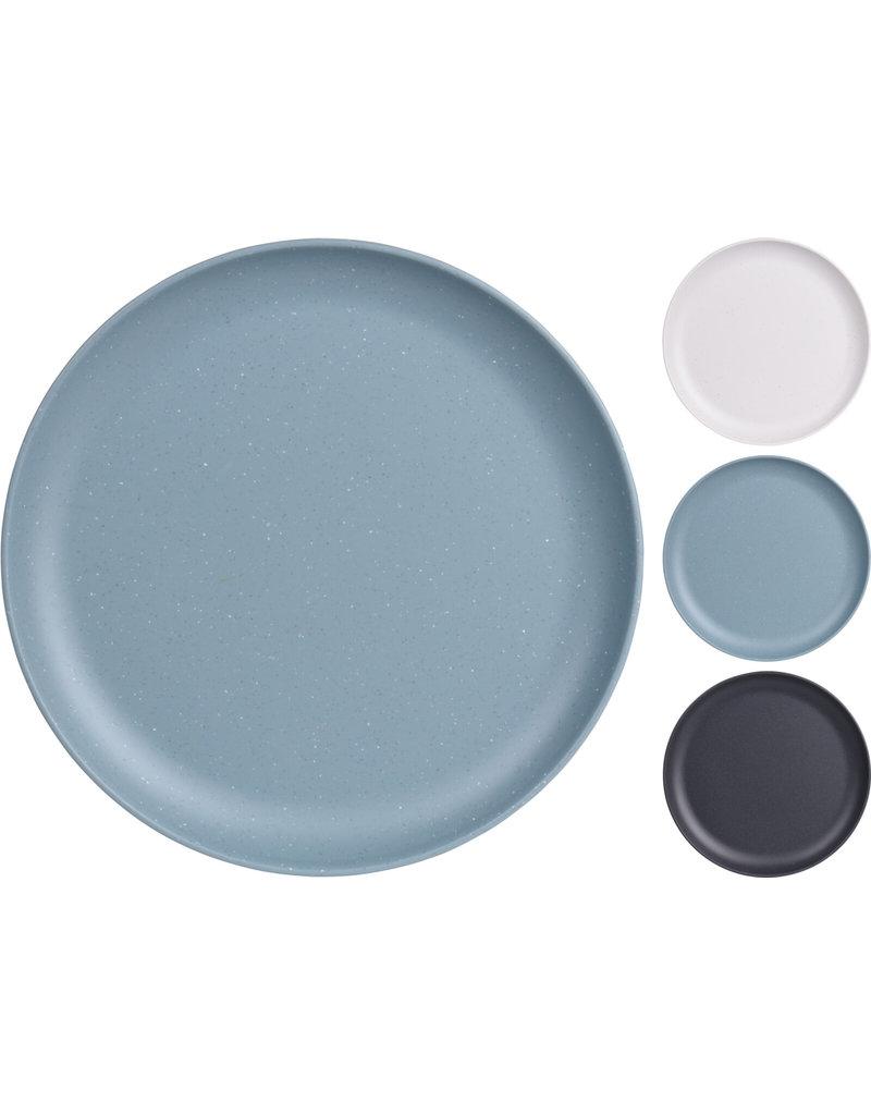 Bord Melamine 21cm. 3 assorti kleur