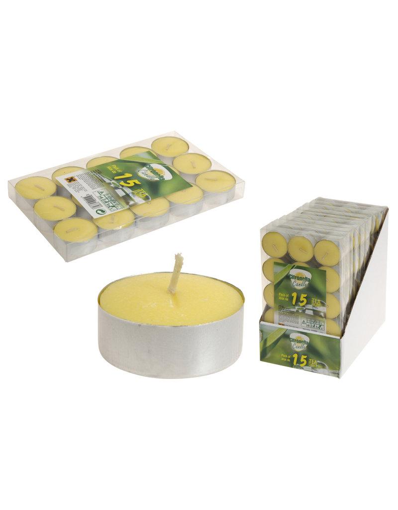 Theelicht citronella 15stuks