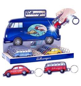 Sleutelhanger Led Zaklamp VW Bus/Beetle 12x4cm ass. kleur