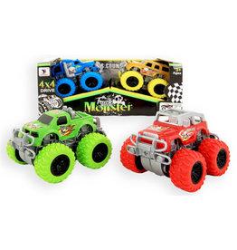 Auto Truck Monster 8cm 4x4 set 2 stuks 2 assorti kleur