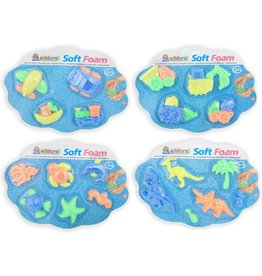 Klei Soft Foam 4 assorti model op kaart 40x30cm