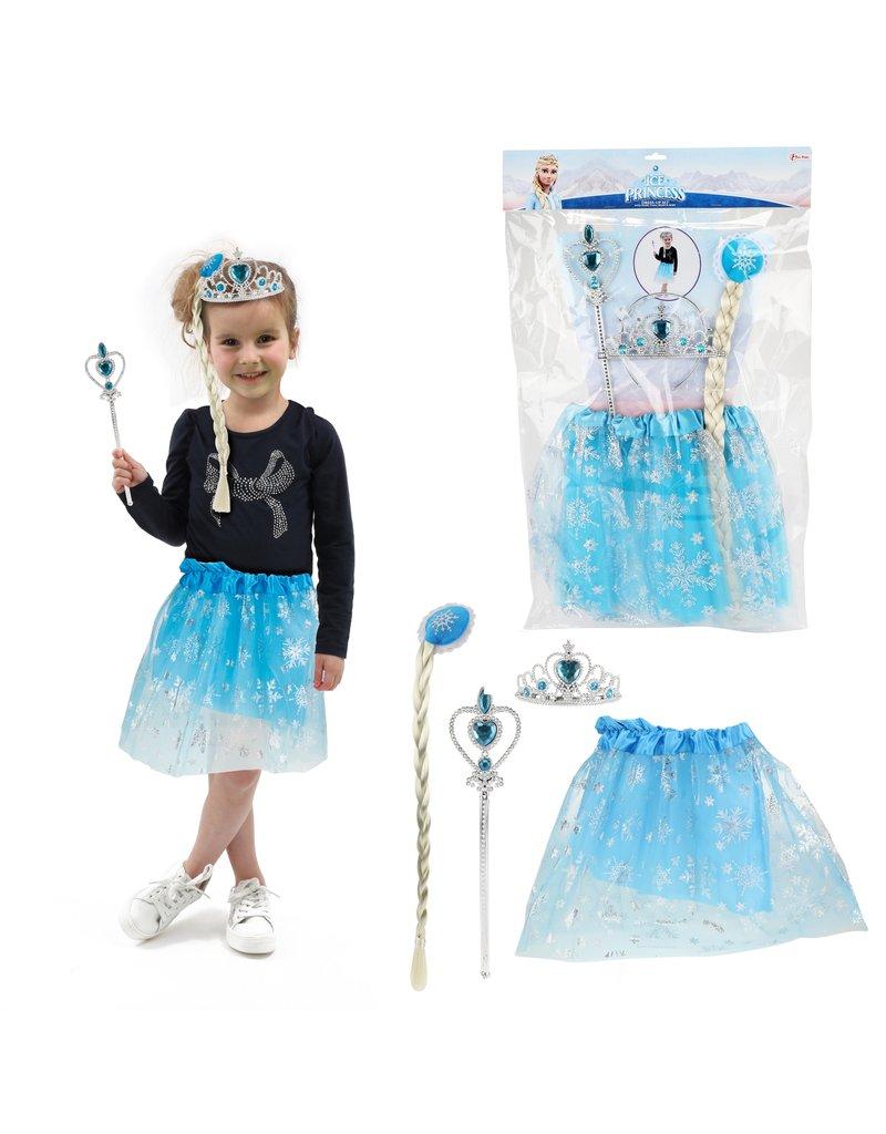 Ice Princess Set met Tutu, Tiara en Staf Prinses